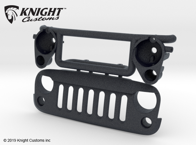 AW20007 Wraith 1.9 ANGRY Grill & Mount in Black Natural Versatile Plastic