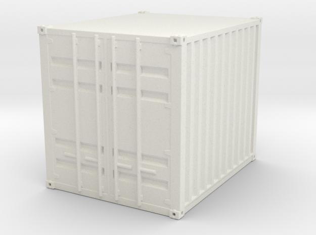 1:72 10 ft Container in White Natural Versatile Plastic