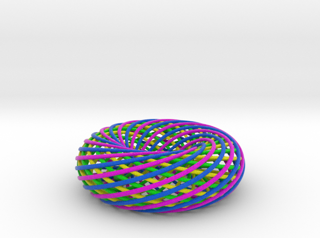 4-Color Spiral Torus LG 3d printed