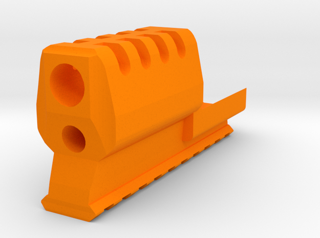 VP9 J.W. Frame Mounted Compensator 10-Slots Rail in Orange Processed Versatile Plastic