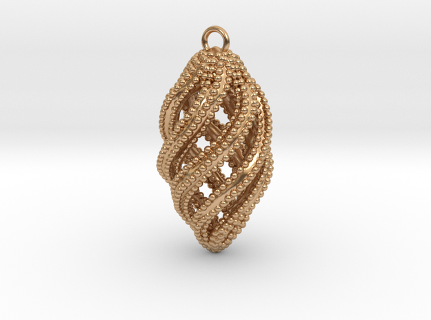 The Spiral in Polished Bronze