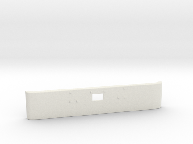 1/16 scale Peterbilt 379 Front bmper part in White Natural Versatile Plastic