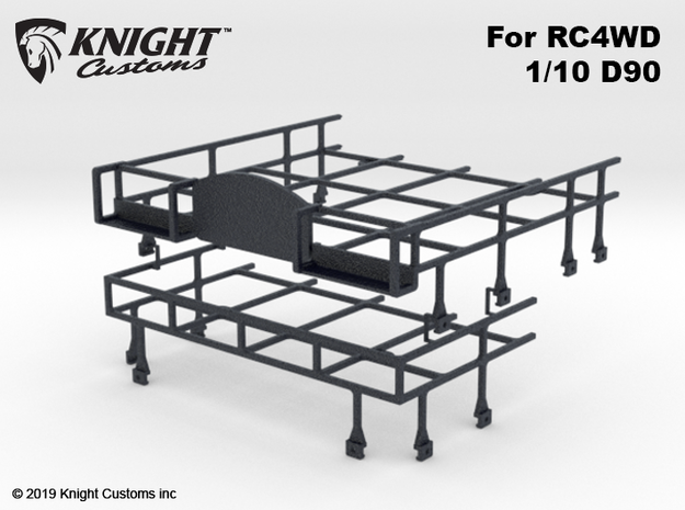 CA10004 Camel D90 Roof Rack in Black Natural Versatile Plastic
