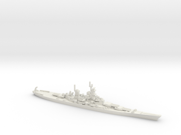 US Iowa Class Battlesahip in White Natural Versatile Plastic