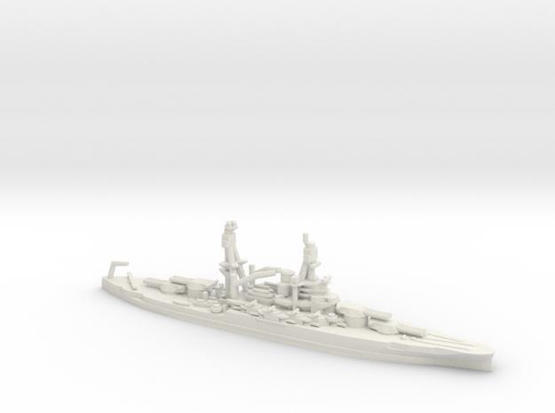 US Pennsylvania-Class Battleship in White Natural Versatile Plastic