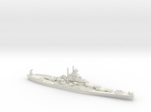 USS South Dakota (BB-57) in White Natural Versatile Plastic: 1:1800