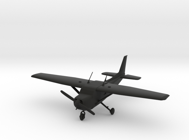 Cessna C172 Skyhawk in Black Natural Versatile Plastic: 1:56