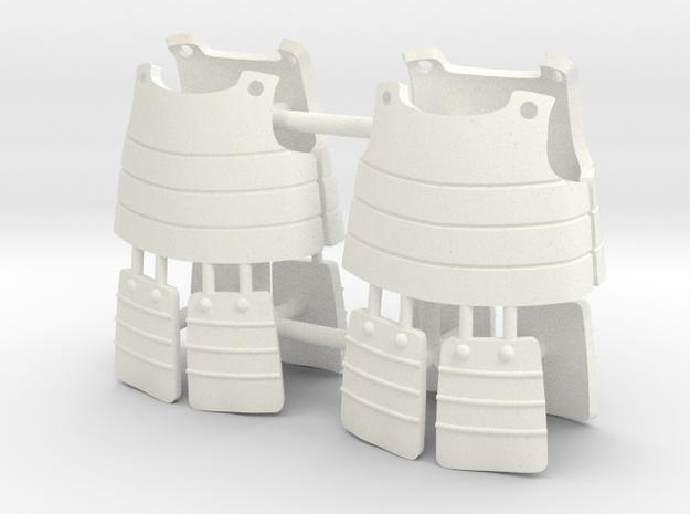 ASHIGARU ARMOUR x2 in White Processed Versatile Plastic