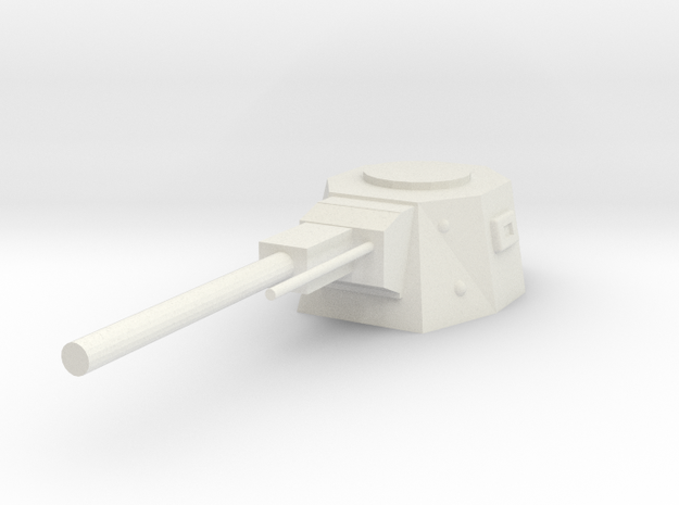Turret Weapon in White Natural Versatile Plastic