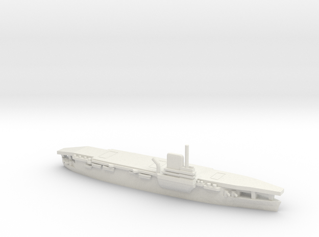 French Aircraft Carrier Bearn in White Natural Versatile Plastic: 1:1800