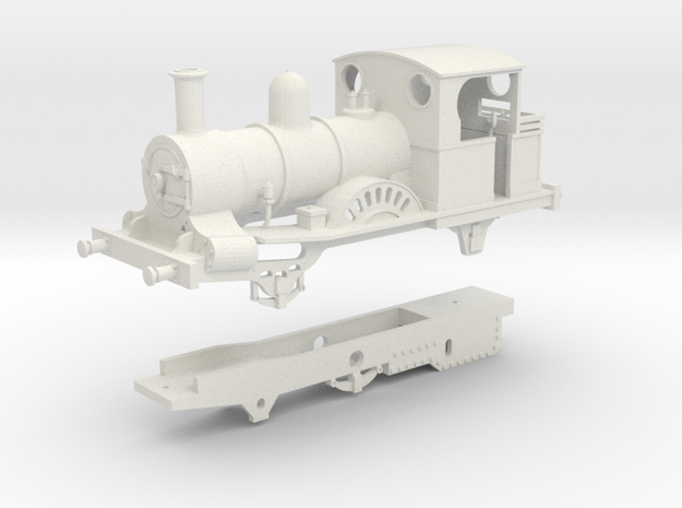 London & Blackwall Railway 2-2-2WT (Modernised) in White Natural Versatile Plastic