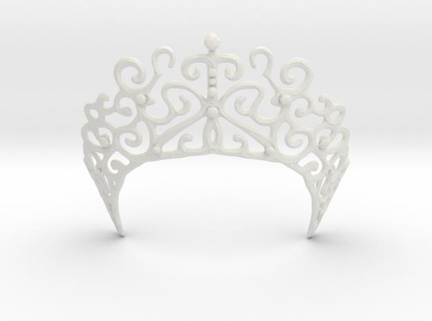 Romantic Crown in White Natural Versatile Plastic