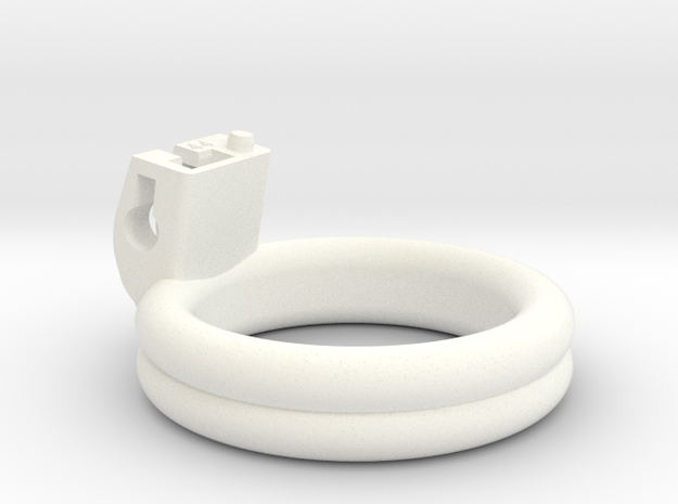 Cherry Keeper Ring - 44mm - Double Planar in White Processed Versatile Plastic