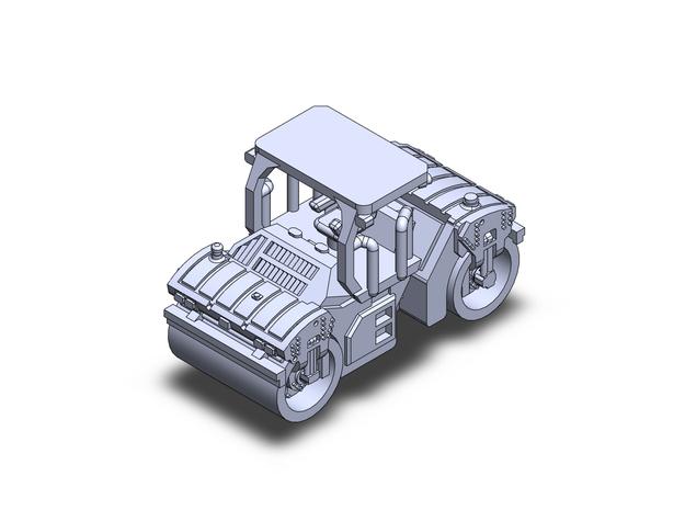 CatCB15 roller tandem in Smoothest Fine Detail Plastic: 1:200