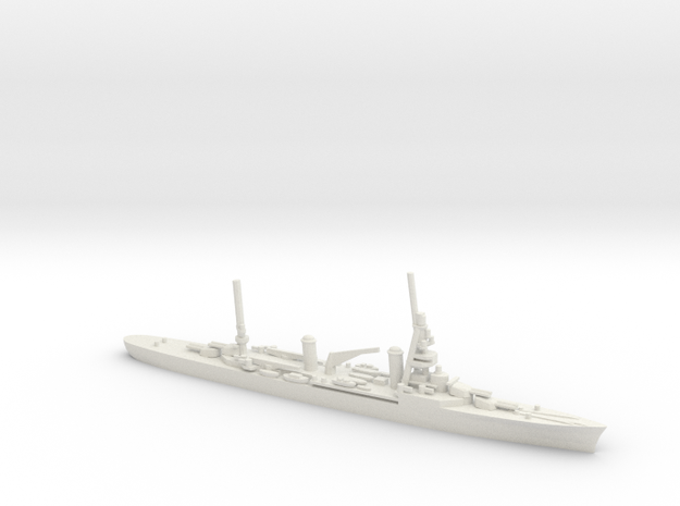 French Suffren-Class Cruiser in White Natural Versatile Plastic