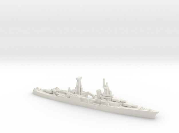 US Northampton-Class Cruiser in White Natural Versatile Plastic: 1:1800