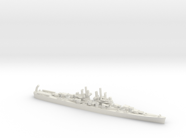 US Cleveland-Class Cruiser in White Natural Versatile Plastic: 1:1800