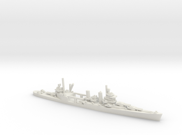 US New Orleans-Class Cruiser in White Natural Versatile Plastic: 1:1800