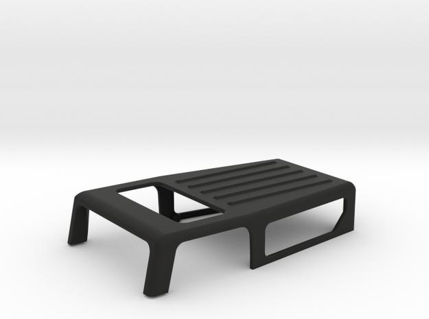 SCX24 Deadbolt Full Cab / Top in Black Natural Versatile Plastic