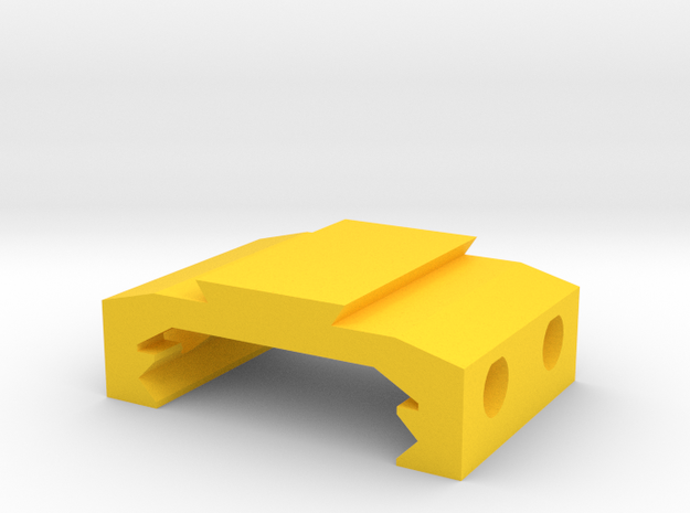 Picatinny to Dovetail Rail Adapter (2 Slots) in Yellow Processed Versatile Plastic