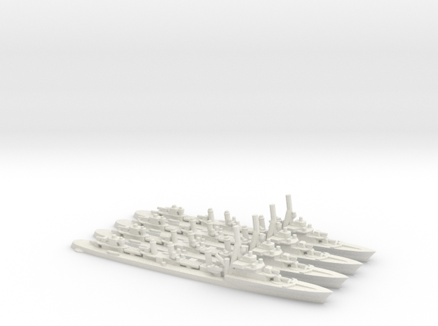 French Aigle-Class Destroyer (extra) in White Natural Versatile Plastic: 1:1800