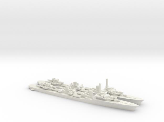 French Le Fantasque-Class Destroyer in White Natural Versatile Plastic: 1:1800