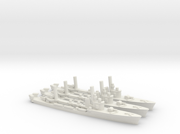 Italian Spica-Class Torpedo Boat (x3) in White Natural Versatile Plastic