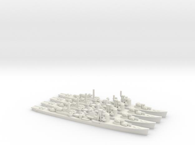 Japanese Akizuki-Class Destroyer (x4) in White Natural Versatile Plastic