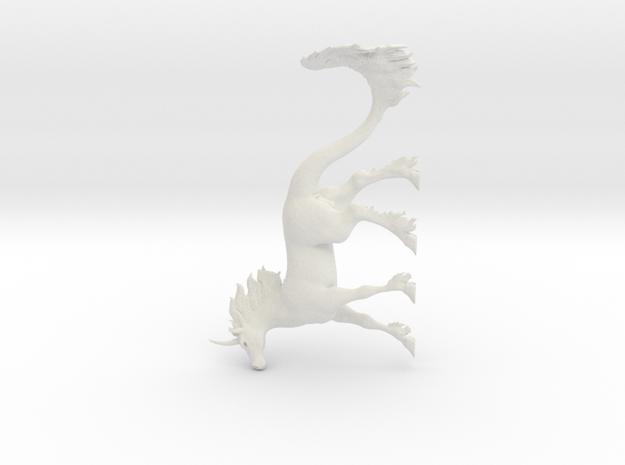 Kirin Stallion in White Natural Versatile Plastic
