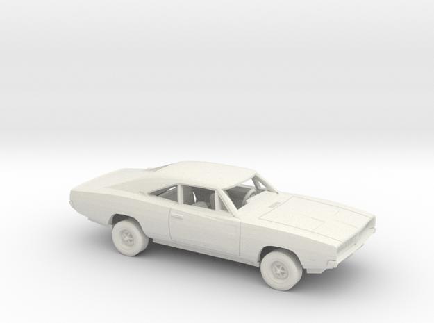 1/50 1969 Dodge  Charger Kit in White Natural Versatile Plastic