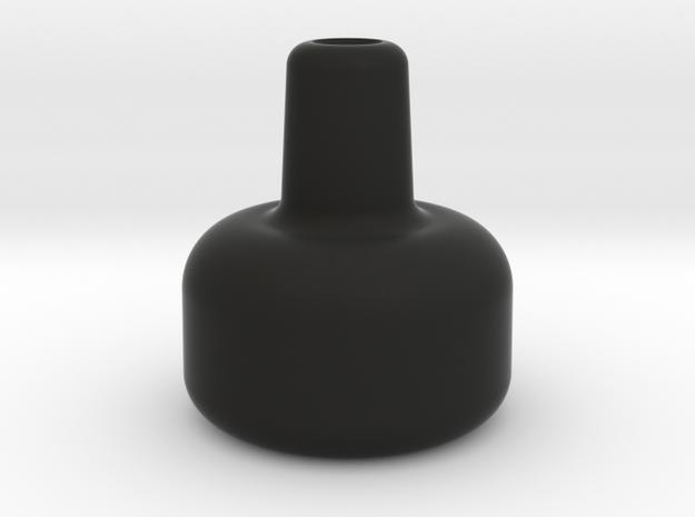 """1.45"""" 1/4-28 THROTTLE KNOB in Black Natural Versatile Plastic"""