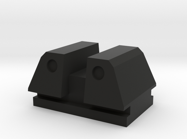 PPQ rear tactical sight type 2 in Black Natural Versatile Plastic
