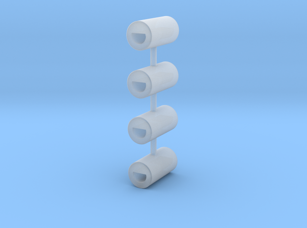 Shaft Coupling L (4 pcs) in Smooth Fine Detail Plastic