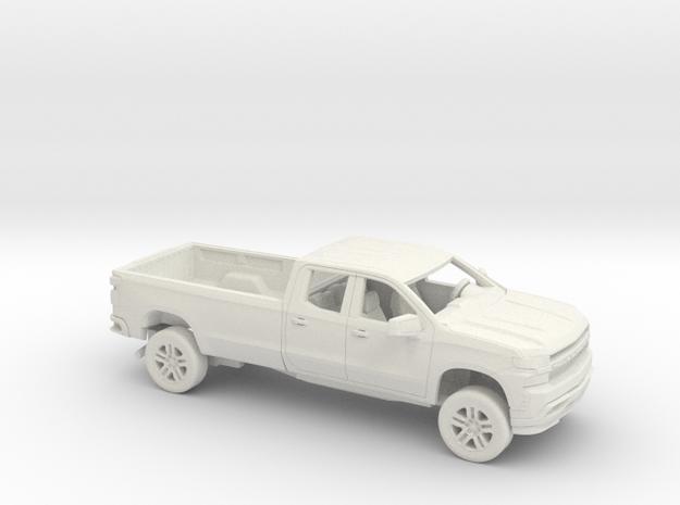 1/72 2019 Chevrolet Silverado Ext Cab Long Bed Kit in White Natural Versatile Plastic
