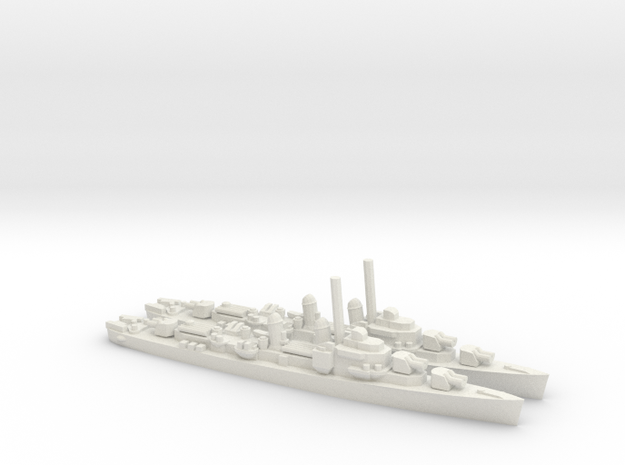 US Allen M. Sumner-Class Destroyer (x2) in White Natural Versatile Plastic