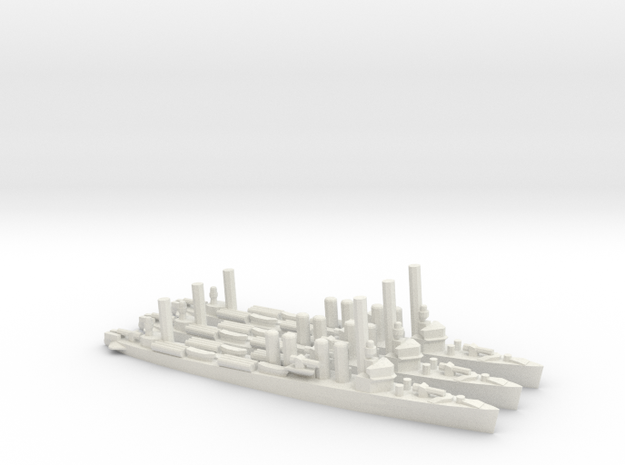 US Wickes-Class Destroyer (x3) in White Natural Versatile Plastic