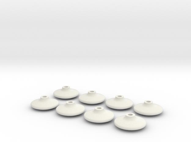 8 ailladors Faiveley in White Natural Versatile Plastic
