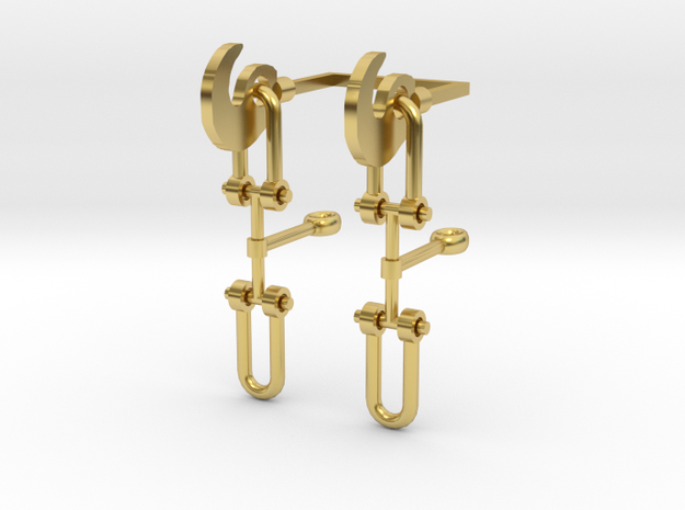 OO Scale Screw Link Couplings in Polished Brass (Interlocking Parts)