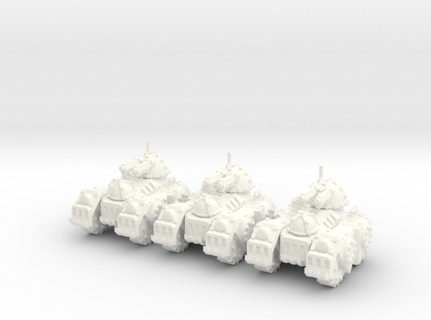 6mm - Steam Cannon Tank in White Processed Versatile Plastic