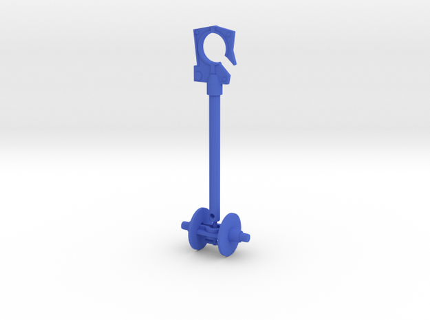 Microtron Hook and Wheel in Blue Processed Versatile Plastic: Large