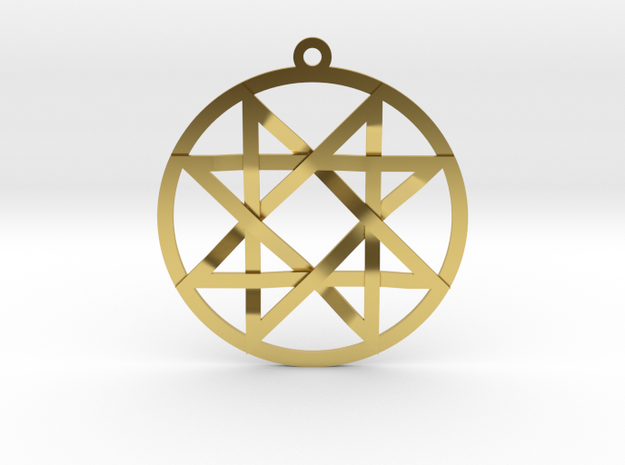 The Signet of Melchizedek  in Polished Brass