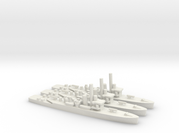 British Shoreham-Class Sloop in White Natural Versatile Plastic: 1:1800