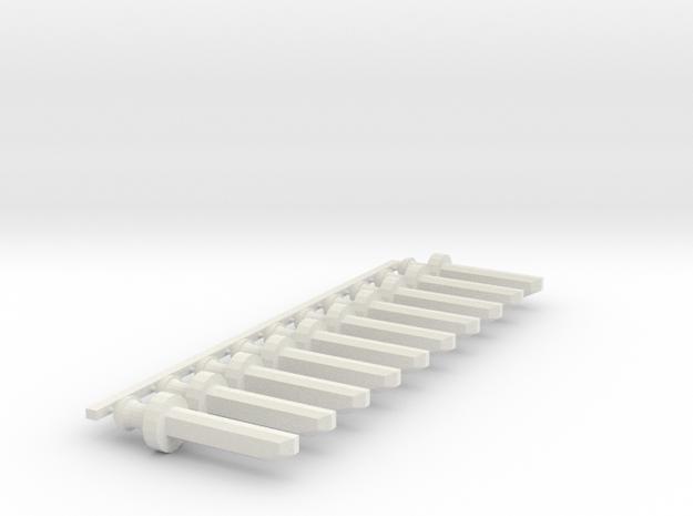 Sword v2 Set10pt in White Natural Versatile Plastic