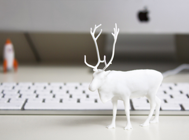 3D scanned Reindeer  in White Natural Versatile Plastic