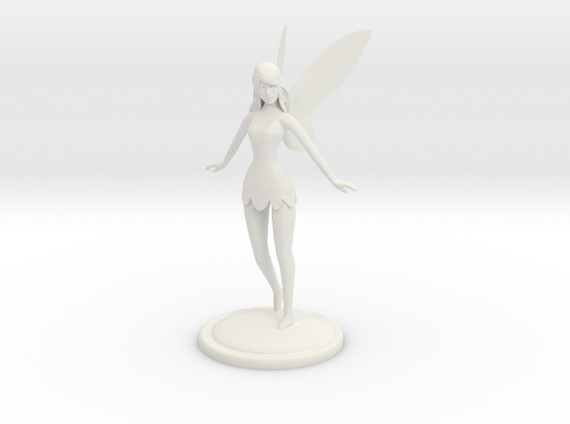 Fairy statue in White Strong & Flexible