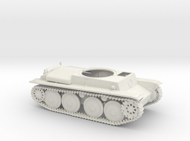 German Panzer 38t 1:18 Scale - Chassis in White Natural Versatile Plastic