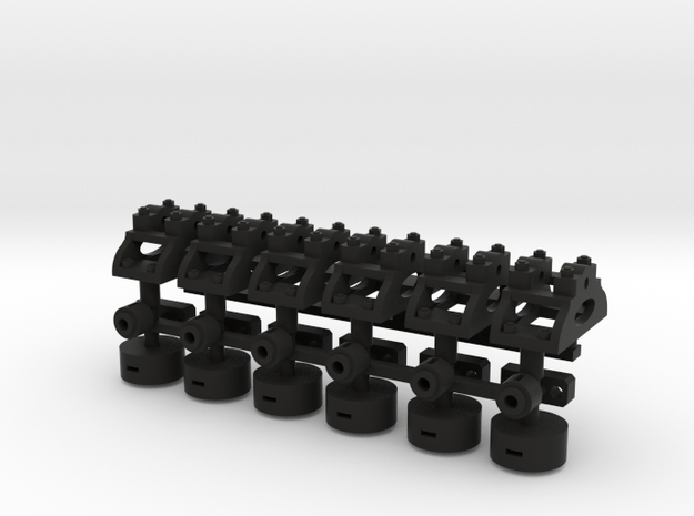 1 13 7 Lever X6 Fixed in Black Natural Versatile Plastic