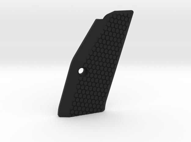 CZ75 SP-01 (right) SHORT grip in Black Natural Versatile Plastic