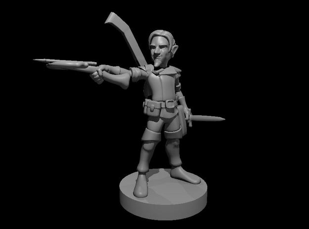 Gnome Male Bard in Smooth Fine Detail Plastic