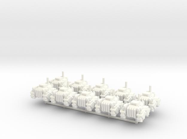 6mm - Urban Armored Quad X 10 in White Processed Versatile Plastic